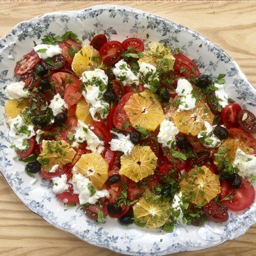 Anne Shooter's tomato, orange and mozzarella salad